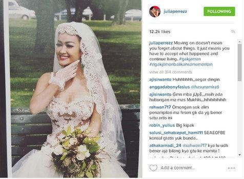 Inilah Foto Pernikahan Julia Perez & Gaston Castano
